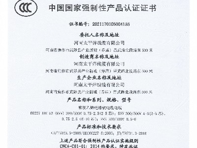 RVV/RVS奇亿电缆3C认证